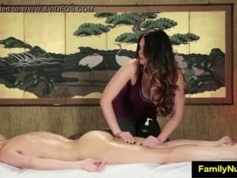 Two milf sex stone massage at nuru massage