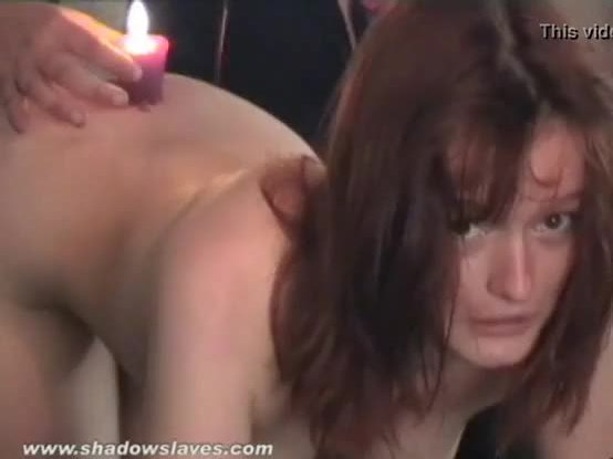 Hot waxing and tape bondage of amateur slave Aylith in cruel pussy burning