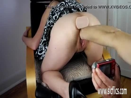 Fisting and pissing on insatiable young slut