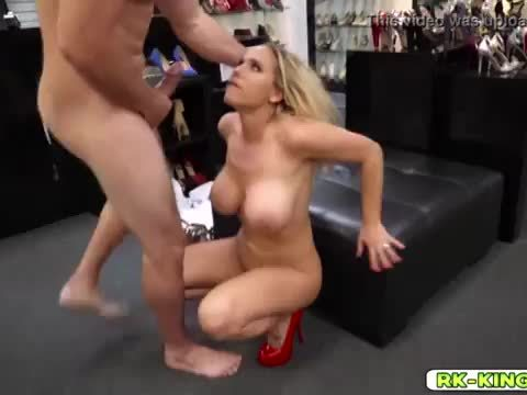 Olivia fucked a cock with her huge tits